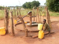 Collecting water in Nampula, Mozambique.